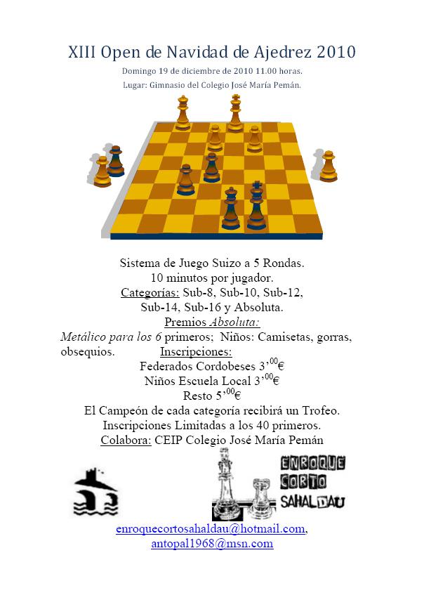 Cartel Torneo Navidad Puente Genil 2010