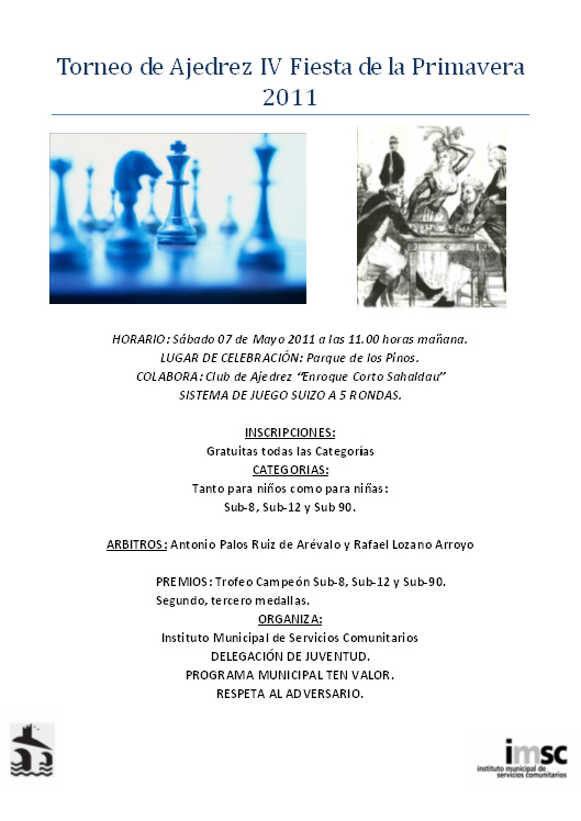 Torneo de Ajedrez Fiesta Primavera 2011