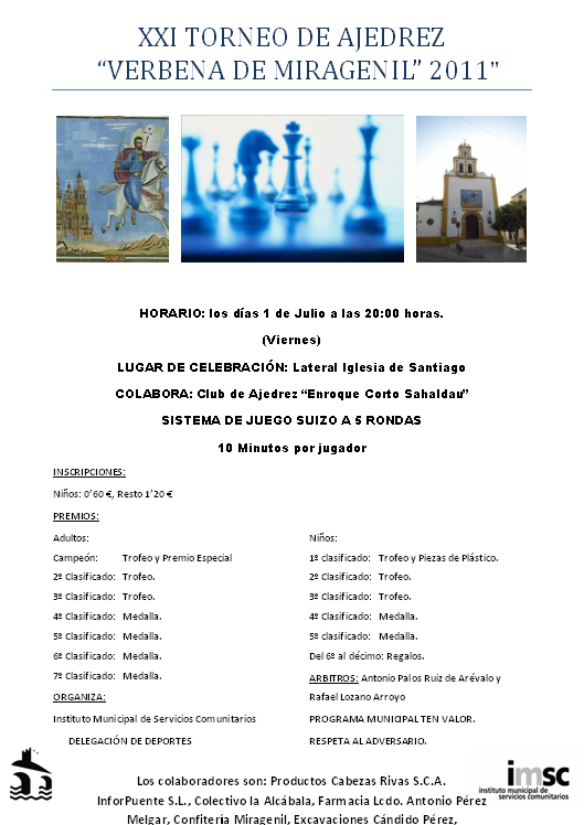 Torneo Ajedrez Miragenil 2011