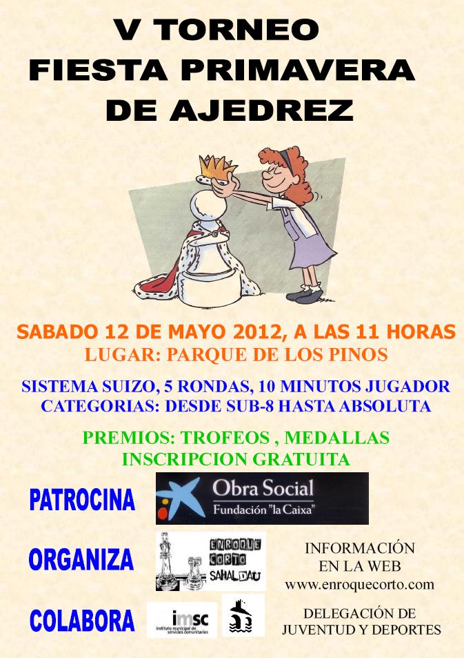 Torneo Ajedrez Fiesta Primavera Puente Genil 2012