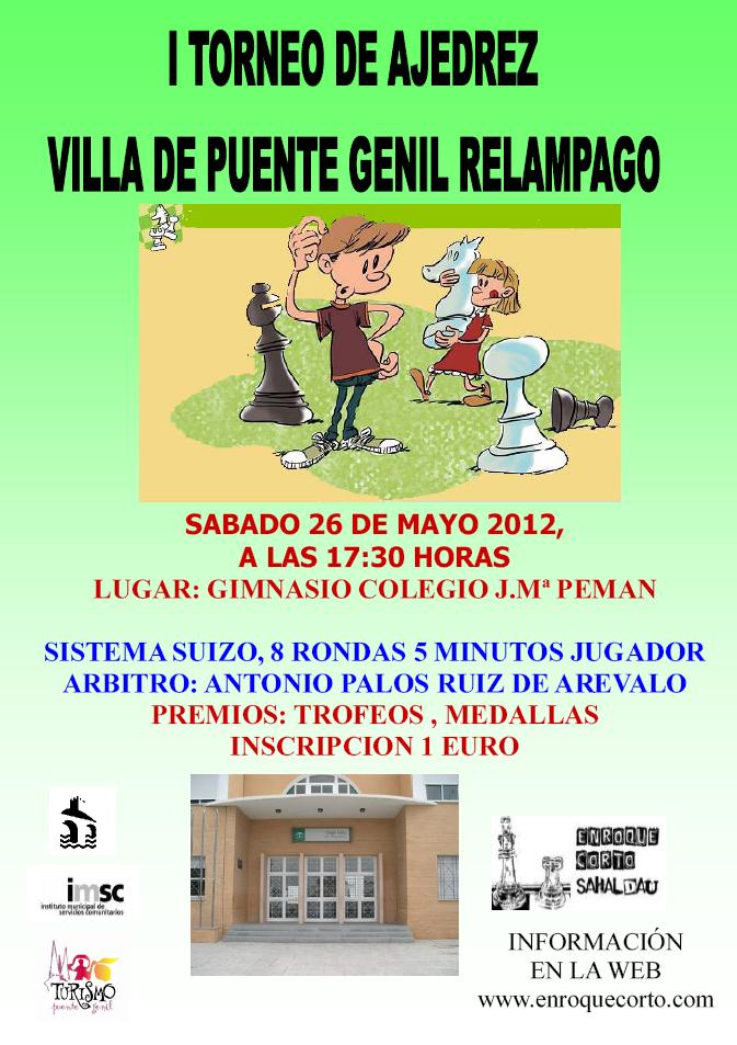 Torneo Ajedrez  Relampago Villa de Puente Genil 2012