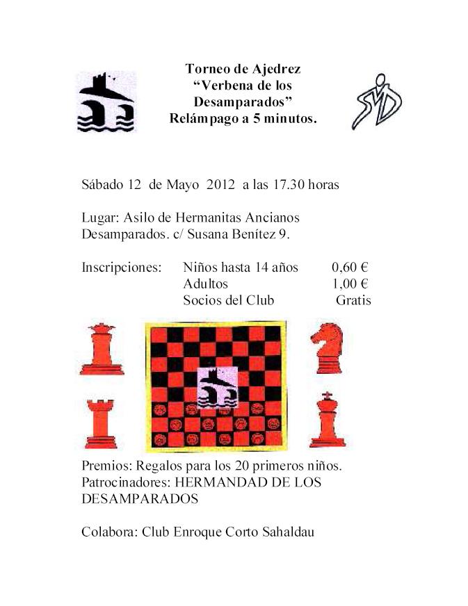 Torneo Ajedrez Virgen de los Desamparados Puente Genil 2012