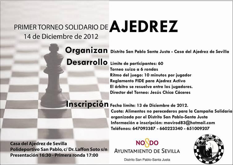 Torneo Ajedrez Solidario Sevilla 2012