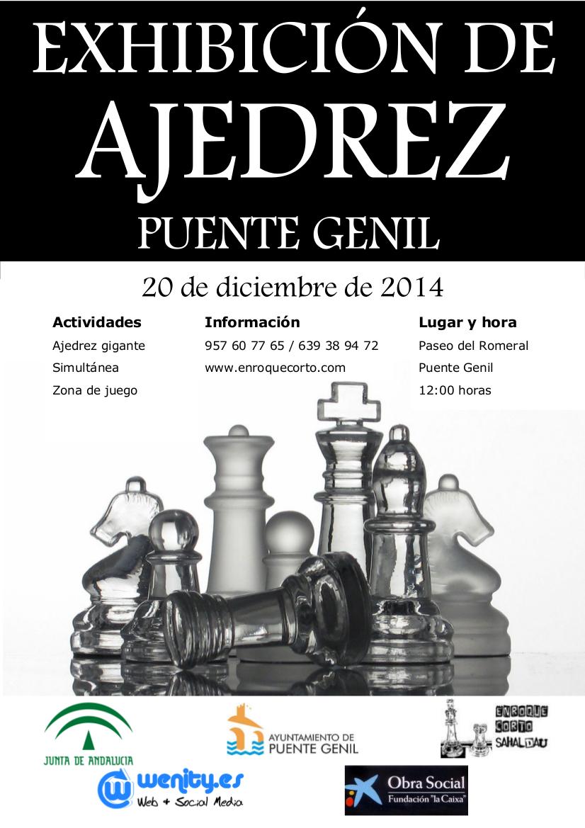 Exhibicion ajedrez navidad Puente Genil 2014