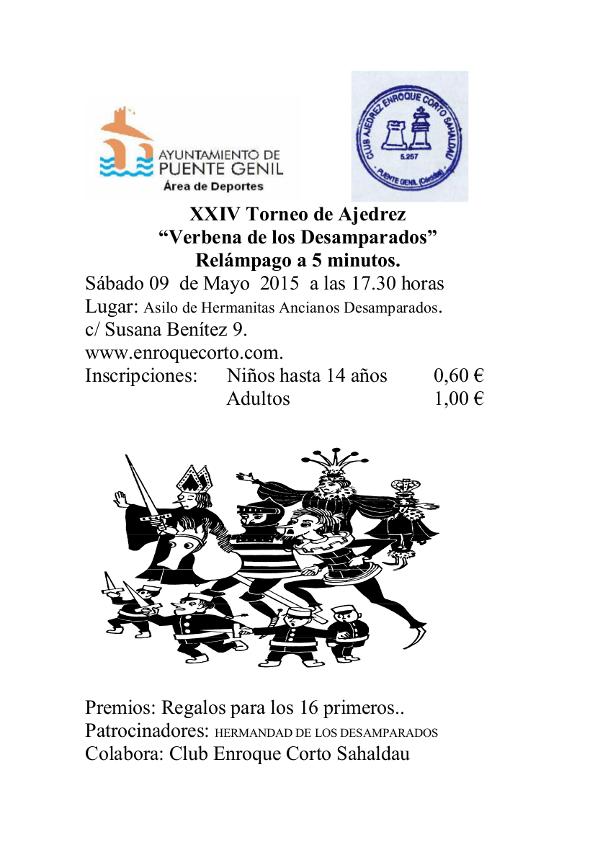 Torneo Ajedrez Verbena Desamparados Puente Genil 2015