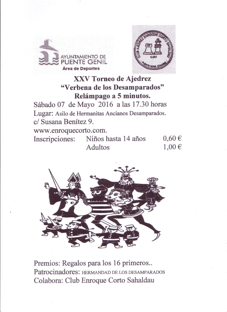 Torneo Ajedrez Virgen de los Desamparados Puente Genil 2016