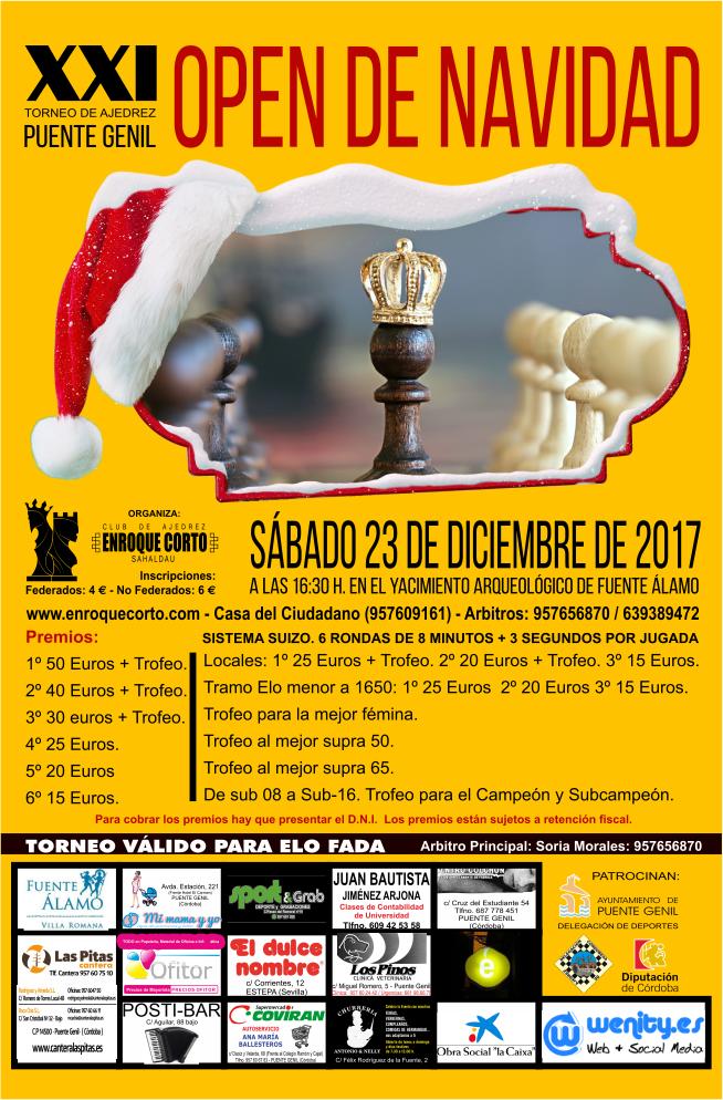 Torneo Ajedrez Navidad Puente Genil 2017