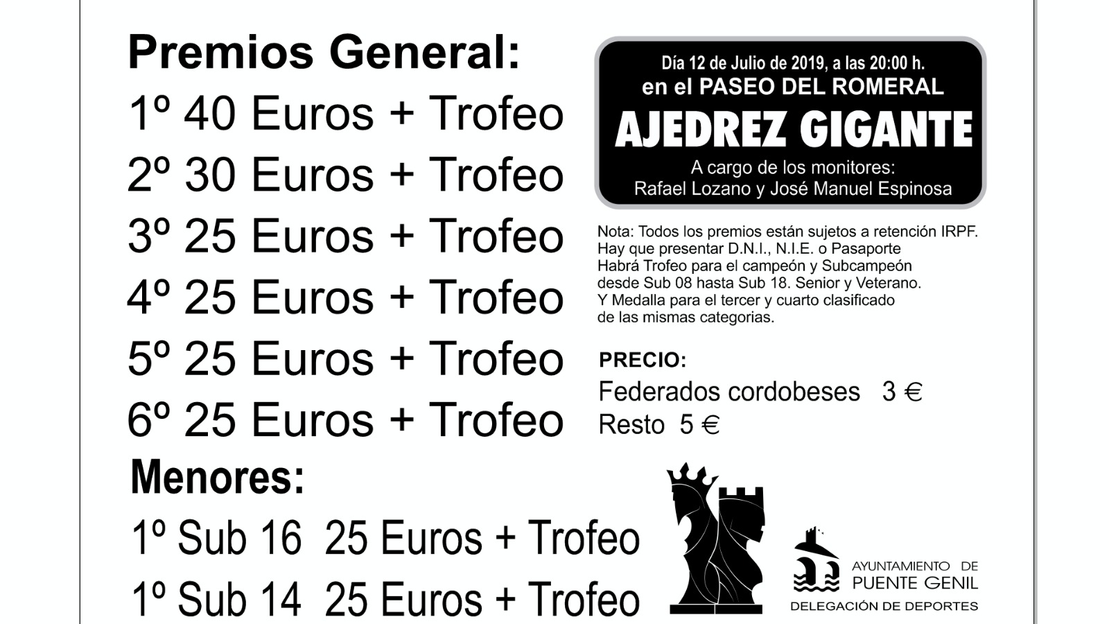Torneo Ajedrez Villa Puente Genil 2019