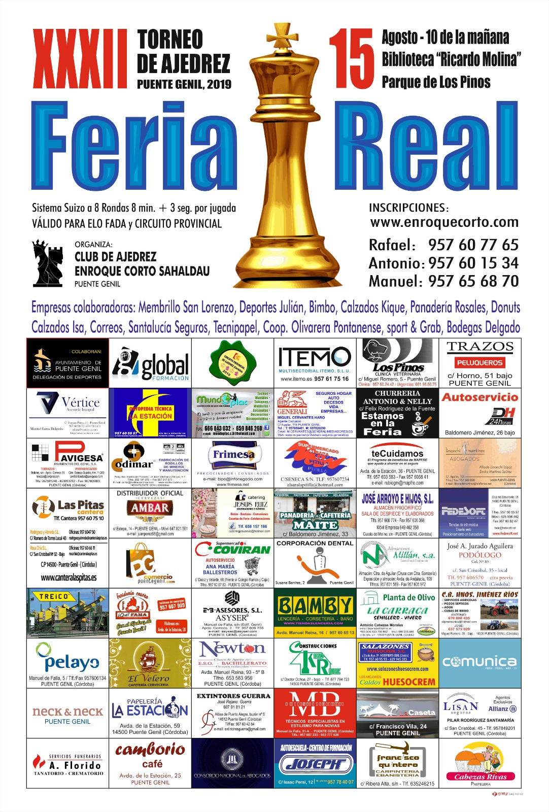 Torneo Ajedrez Feria Puente Genil 2019 Empresas