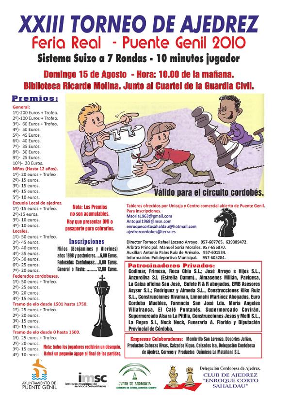 Torneo de Ajedrez Feria Real de Puente Genil