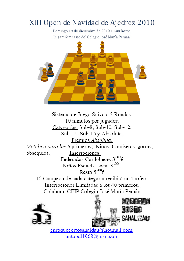 XIII Torneo de Ajedrez de Navidad de Puente Genil 2010