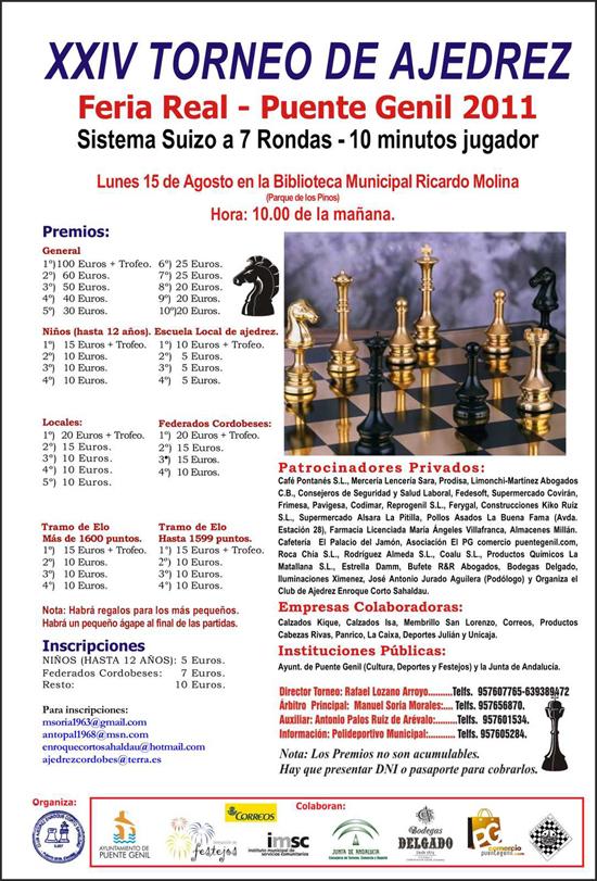 Torneo de Ajedrez Feria de Puente Genil 2011