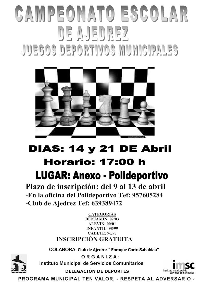 Torneo Ajedrez Juegos Deportivos Municipales 2012