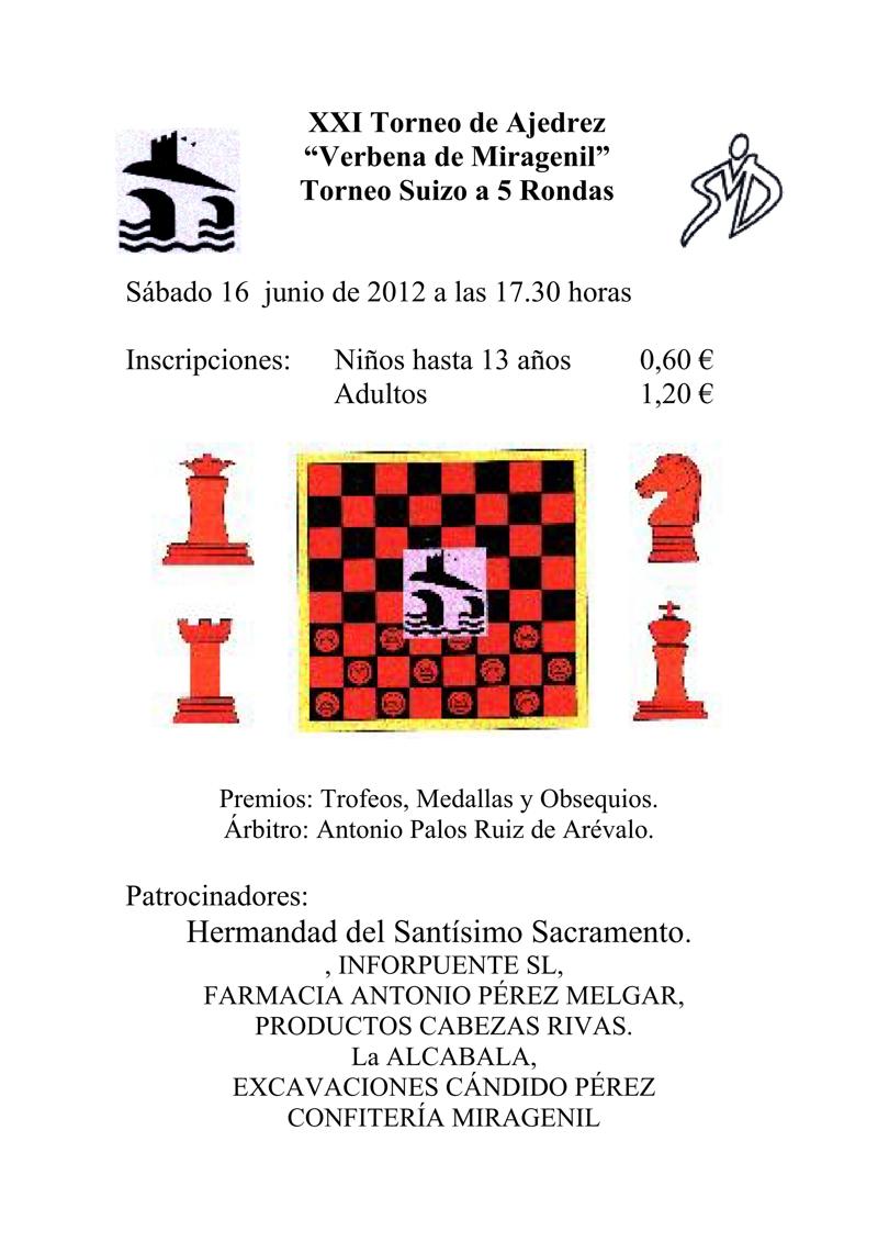 Torneo Ajedrez Verbena Miragenil Puente Genil 2012