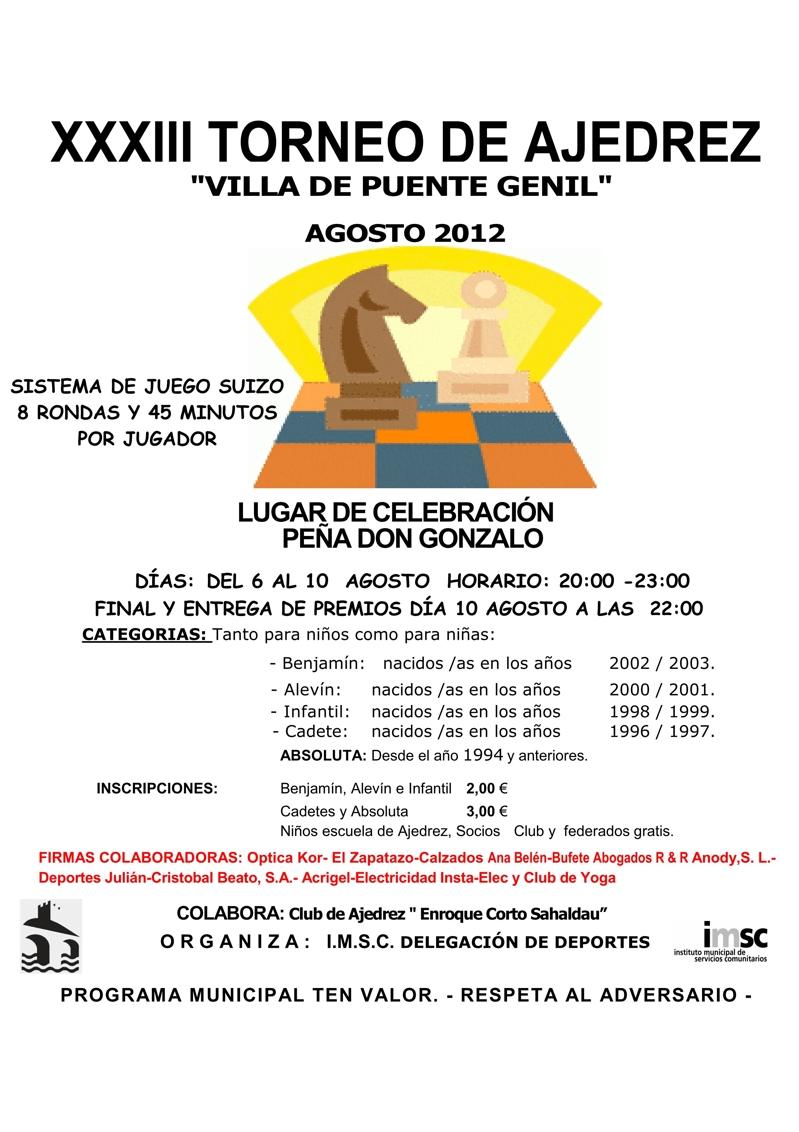 Torneo Ajedrez Villa Puente Genil 2012