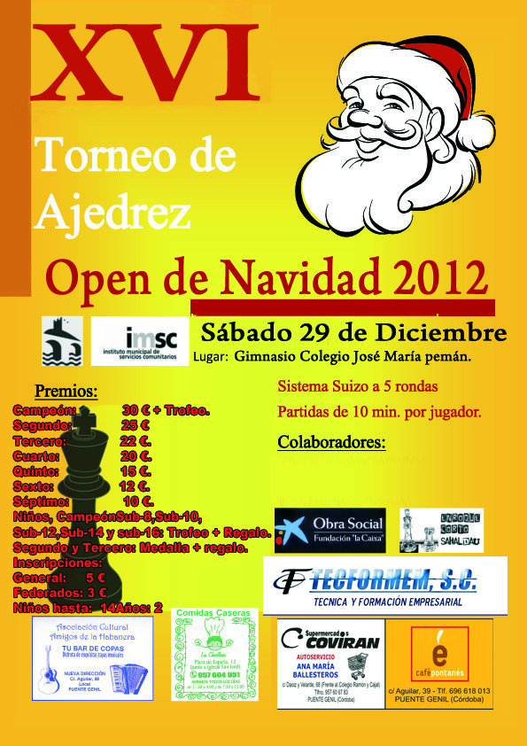 Torneo Ajedrez Navidad Puente Genil 2012
