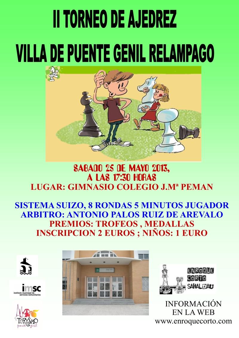 Torneo Ajedrez Relampago Villa Puente Genil 2013