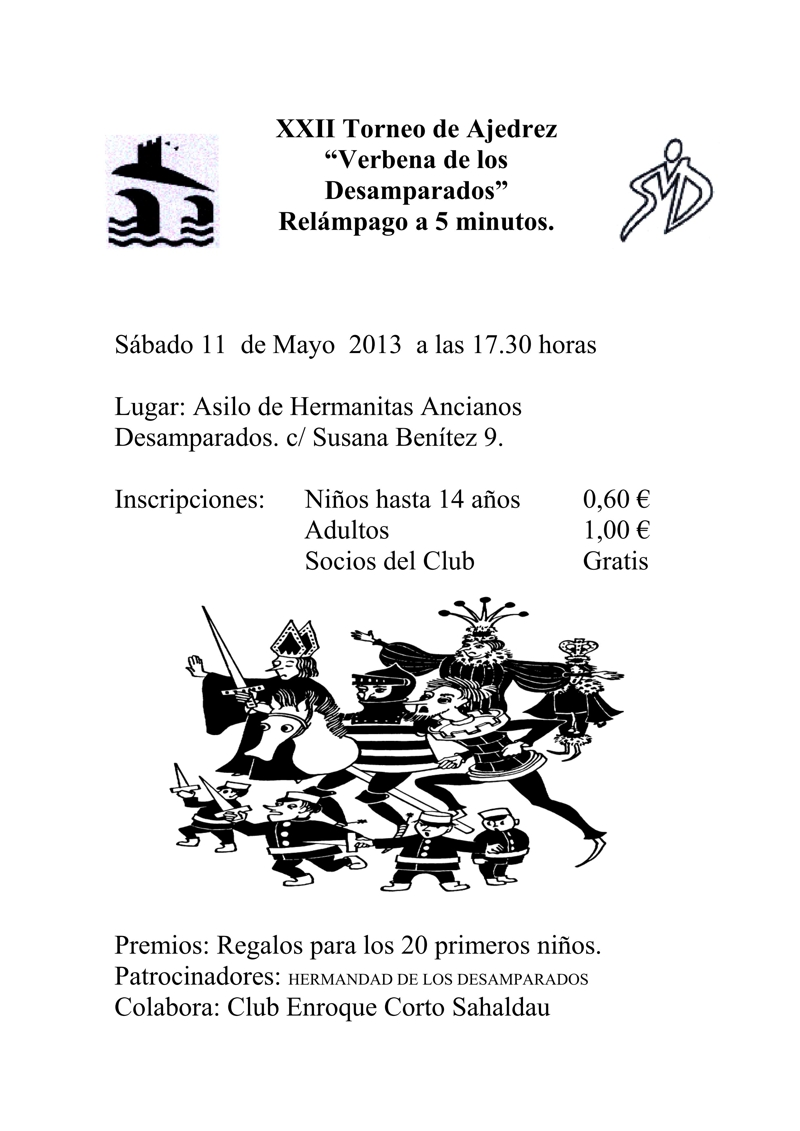 Torneo Ajedrez Verbena Desamparados Puente Genil 2013
