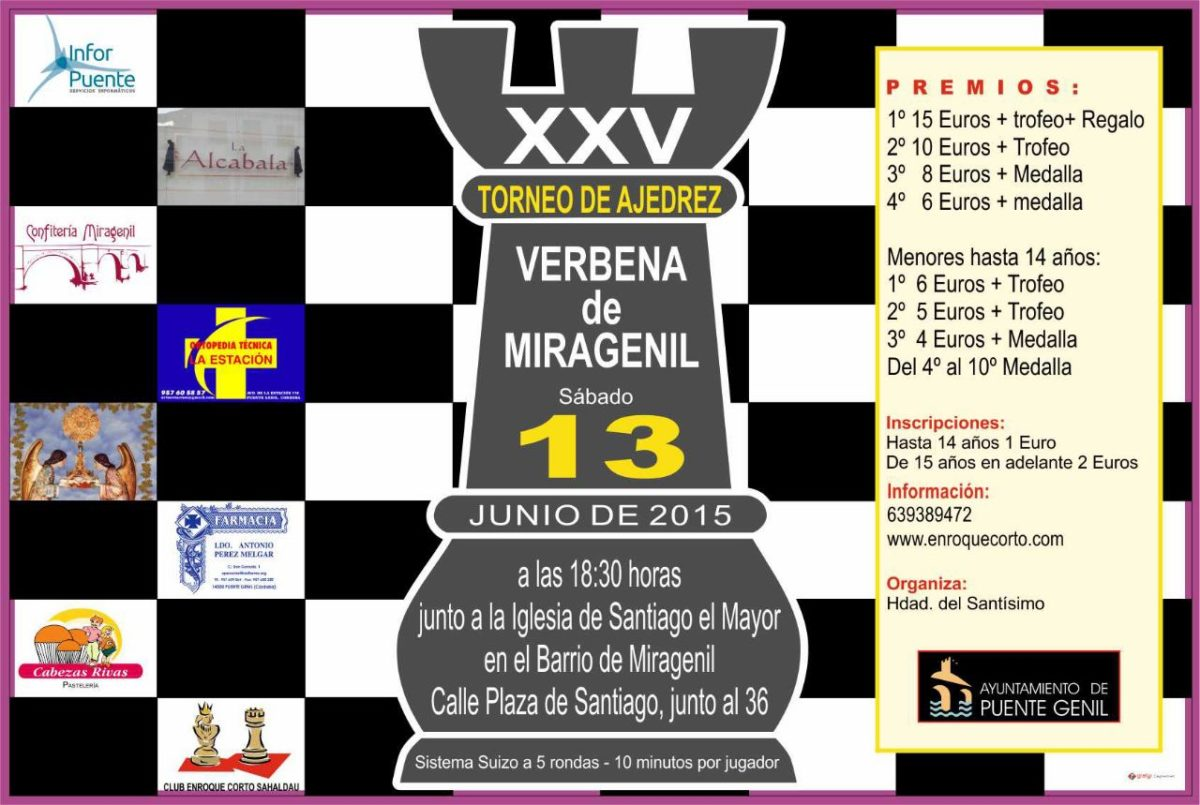 Torneo Ajedrez Verbena Miragenil Puente Genil 2015