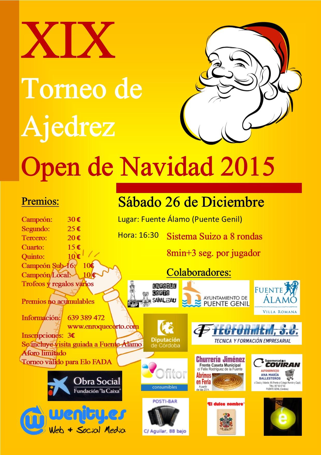 Torneo Ajedrez Navidad Puente Genil 2015