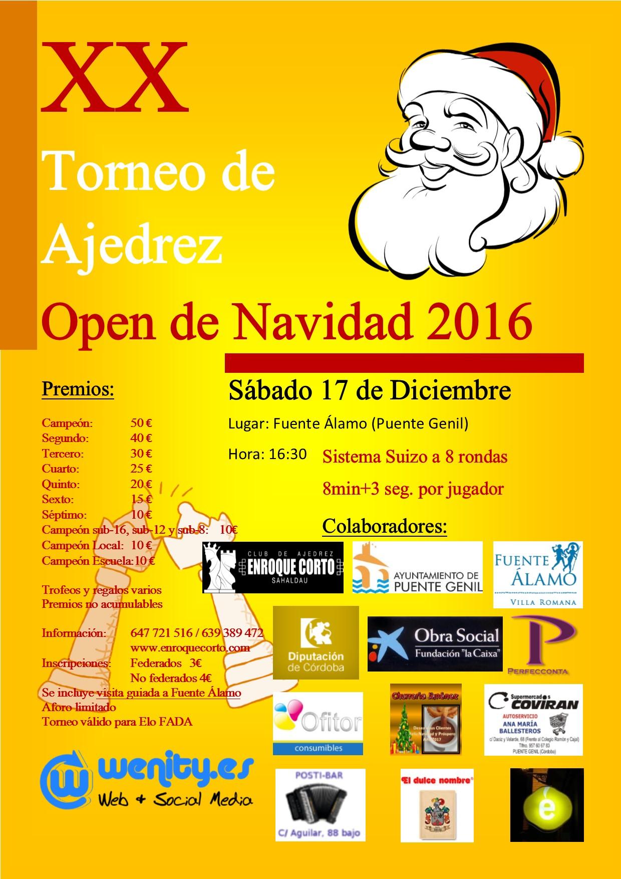 Torneo Ajedrez Navidad Puente Genil 2016