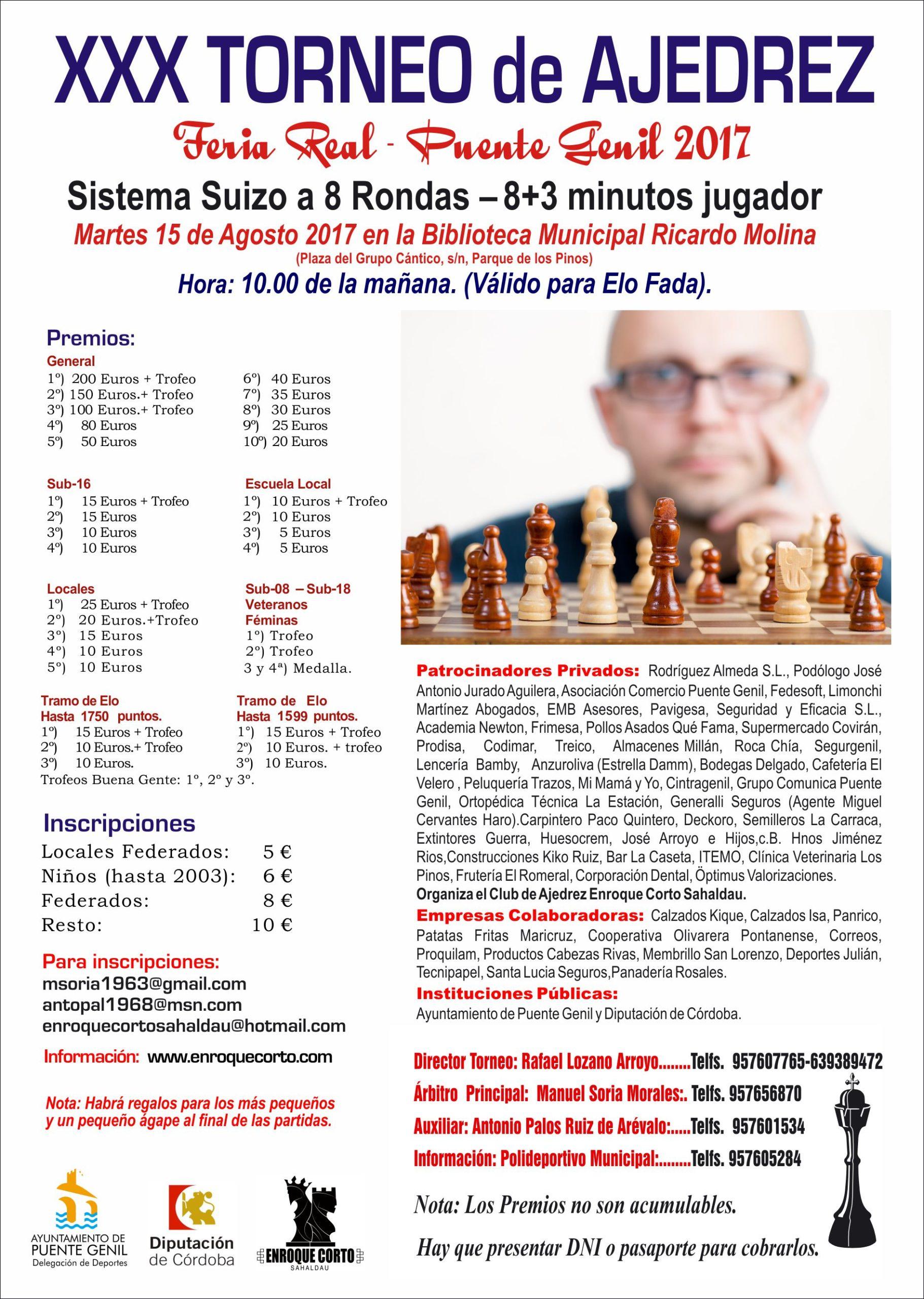 Torneo de Ajedrez Feria de Puente Genil 2017