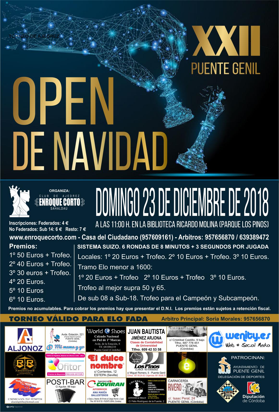 Torneo Ajedrez Navidad Puente Genil 2018