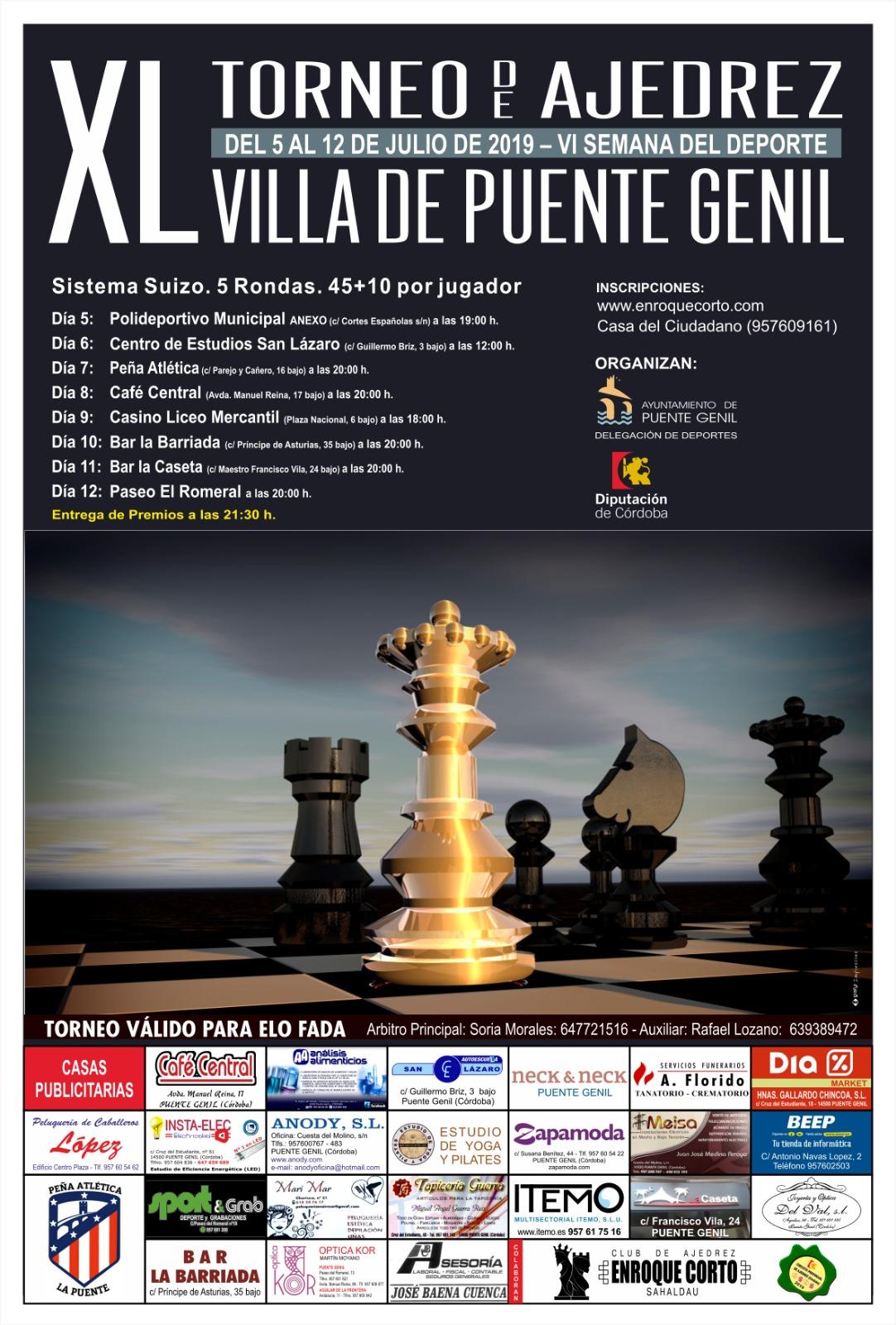 Torneo de Ajedrez Villa de Puente Genil 2019