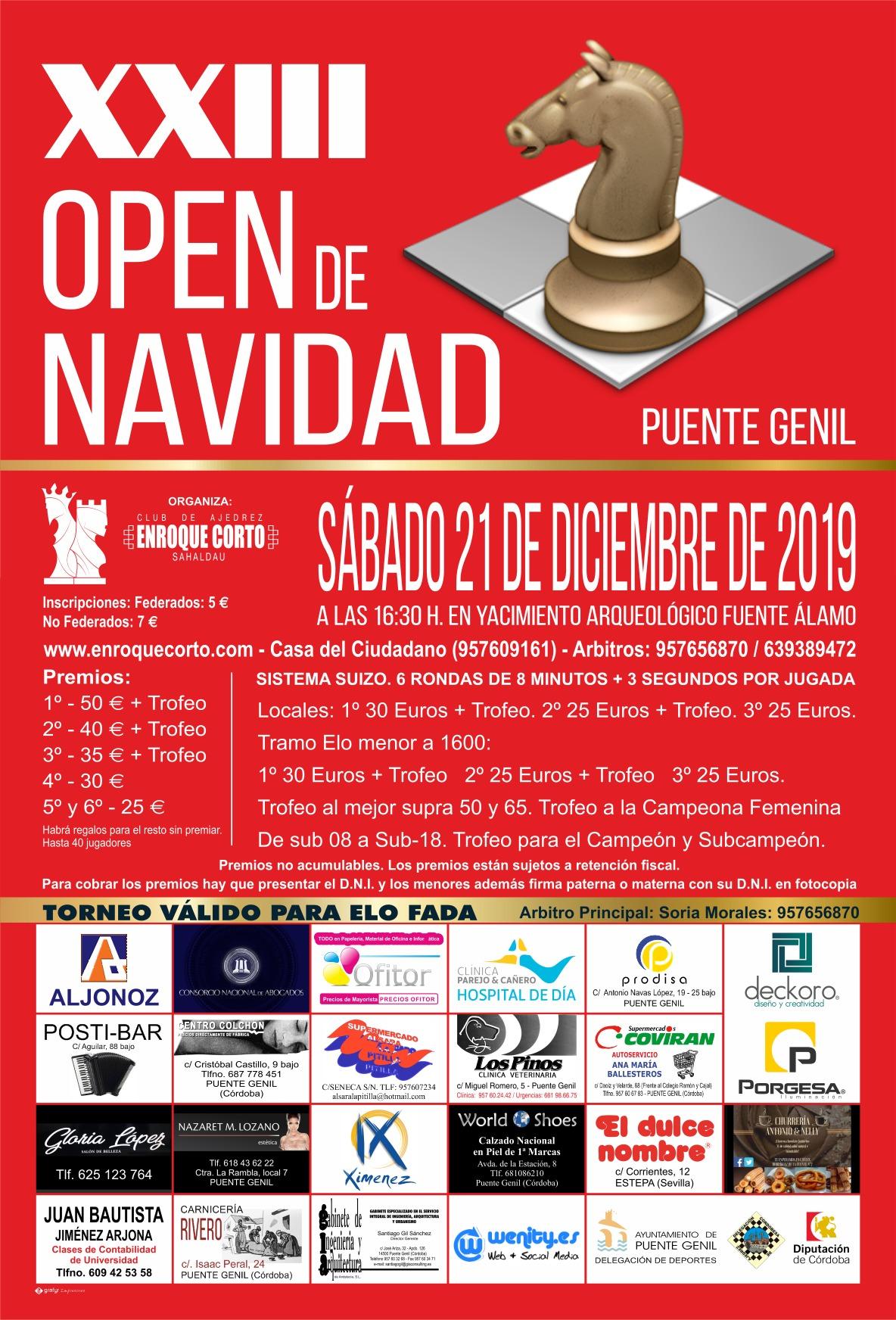 Torneo Ajedrez Navidad Puente Genil 2019